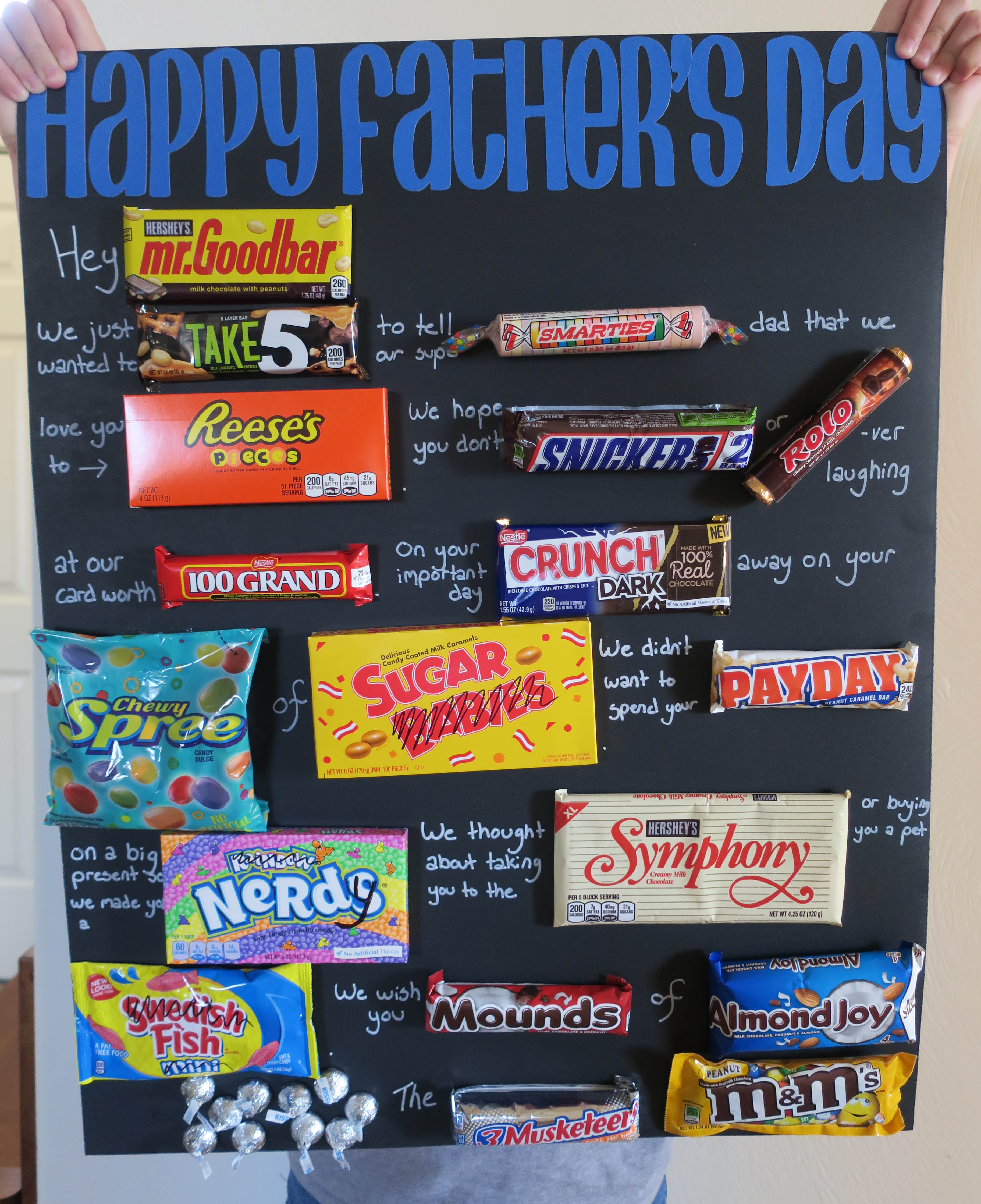 father s day candy bar poster